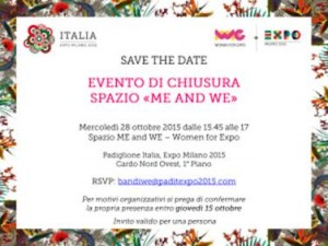 "Evento di chiusura spazio ""me and we"""